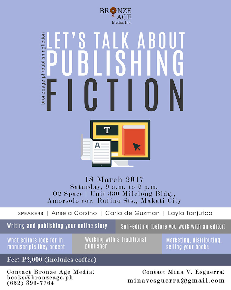 Let's Talk About Publishing Fiction seminar on 18 March 2017