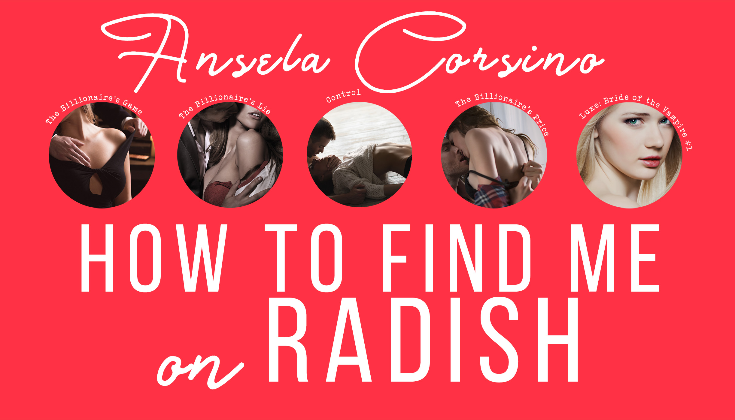 TUTORIAL: How to find me and my stories on the Radish fiction app