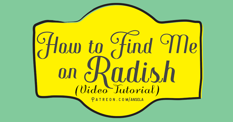 How to find me on Radish
