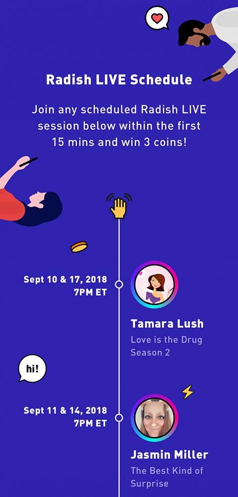Radish Live Schedule